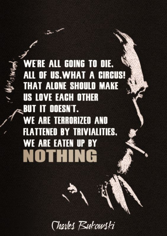 Sad truth. Terrorized and flattened by trivialities.