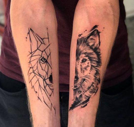Matchin Tattoos Couples Tattoo Designs Couples Wolf Tattoos Wolf Tattoos