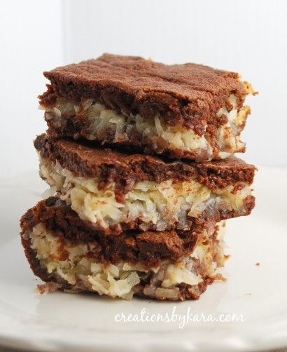 Coconut Macaroon Brownies - must try these