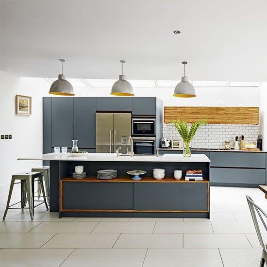 Dark Grey Modern Kitchen modern grey kitchen | kitchen designs | photo gallery | beautiful