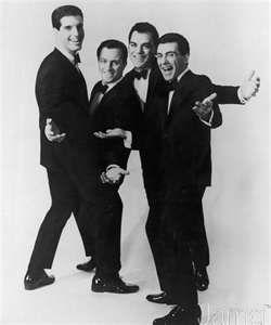 Franki Valli and the Four Seasons. from left: Bob Gaudio, Tommy DeVito, Nick Massi, Frankie Valli