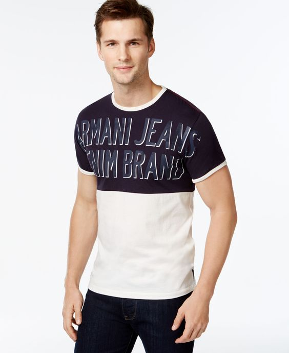 Armani Jeans Colorblocked Logo T-Shirt