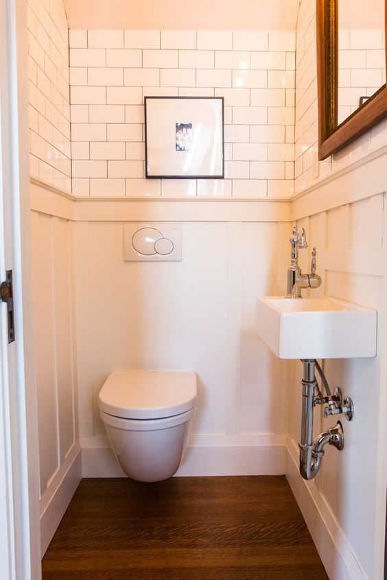 Lighting Basement Washroom Stairs: POWDER ROOM UNDER STAIRS By Danielle Nicholas Bryck