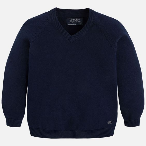 Mayoral Navy Basic Cotton Sweater