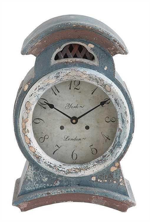 ANTIQUE STYLE SWEDISH MORA LARGE TEAL BLUE PINE WOOD MANTEL CLOCK,16''H #Unbranded #AntiqueStyle