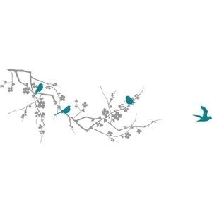 Cherry Blossom Branch and Birds Wall decal from ETSY.com