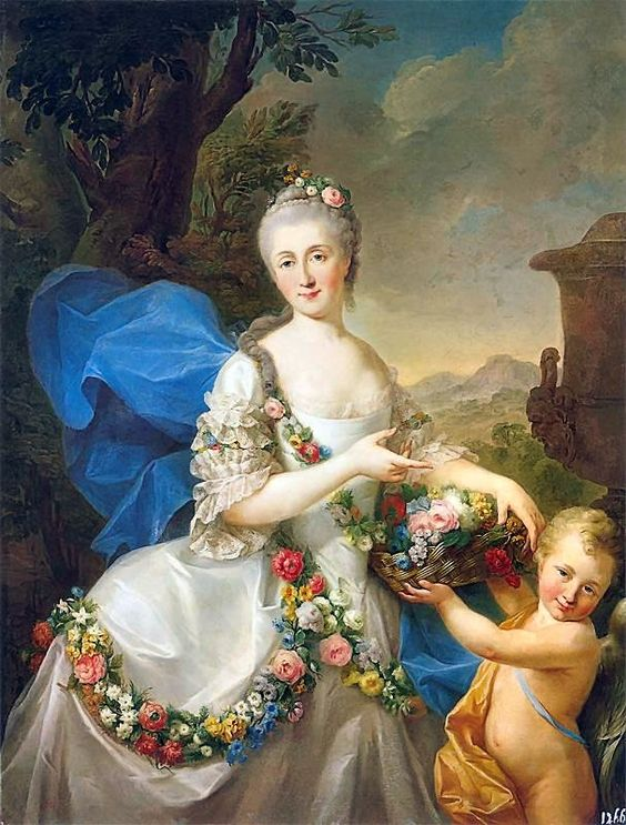 Bacciarelli - Portrait of Apolonia Poniatowska nee Ustrzycka and her son Stanisław as Flora and Amor.: