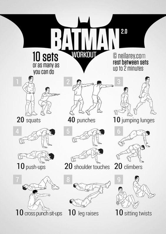 Les 100 exercices de musculation des super-héros. À faire à la maison avec les enfants!