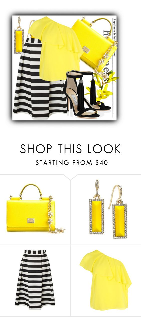 """#1125@"" by elena-gienko ❤ liked on Polyvore featuring Dolce&Gabbana, ABS by Allen Schwartz, Lipsy and Alice + Olivia"