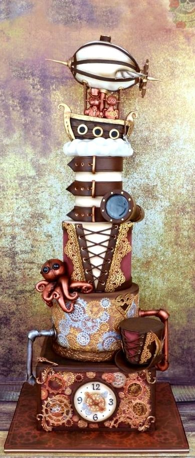 Cake Decorating Classes Fort Collins : Steampunk wedding cake, Steampunk wedding and Steampunk on ...