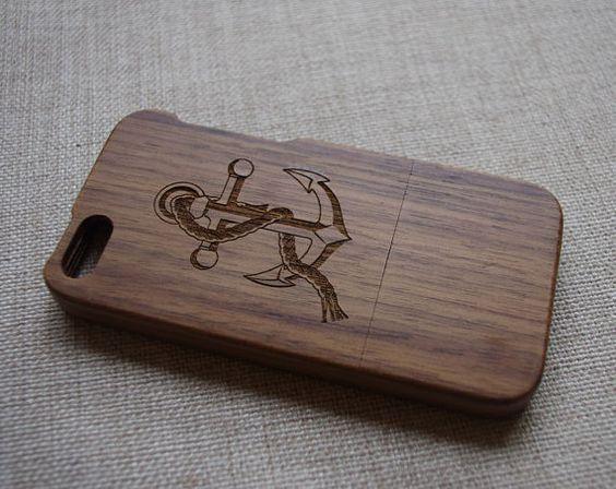 Anchor Wood iPhone 5 Case,Wood iPhone 5s case/Bamboo iPhone 5 case