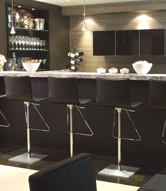 Modern Basement: Home Bar, Basement Bar, Modern, Luxe, Masculine