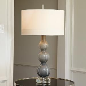 Cloud Lamp in Dark Grey with Shade from www.wellappointedhouse.com The Well Appointed House by Melissa Hawks