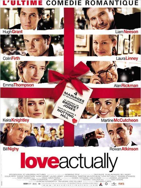Love Actually - Probablement la meilleure comédie romantique que j'ai vue. Un savant chassé croisé de personnages hauts en couleurs, qui apporte un suspense grandissant au fil de l'action et un humour bien dosé, le tout restant d'abord chaleureux et romantique. Un mot : CULTE