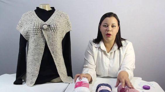 Eliete Massi   Colete de trico Enviesado