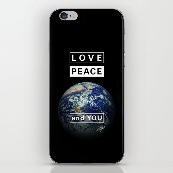 and YOU_earth iPhone & iPod Skin by SEVENTRAPS | Society6
