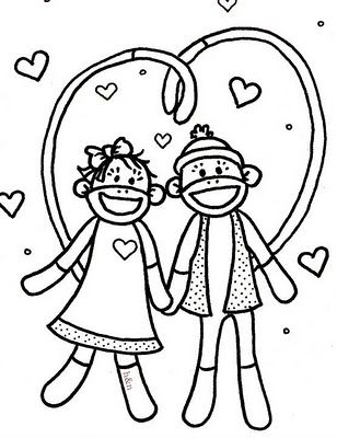 sock monkey coloring pages printable