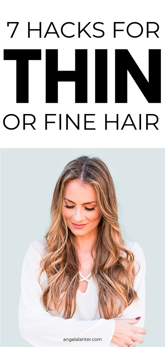 Tips and Hacks for Thin Hair