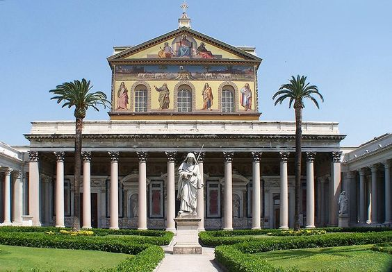 While St. Peter's Basilaca is a cacophony of Baroque art, St. Paul's outside the walls is serence and simple.  In this space you can imagine what heaven looks like.