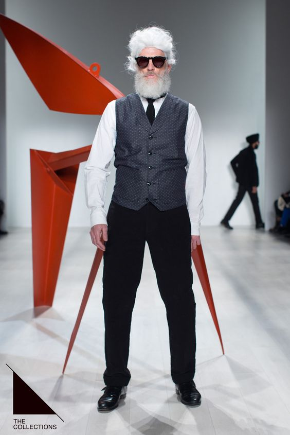 The stand out look of the #Klaxonhowl AW14 Show, we applaud the KL team for their casting. The White hair contrasting this elegance grass rooted look and our #CutlerandGross 0734 Black frames grabbed the attention of all attendees and those streaming it live. #WMCFashionWeek #CFW