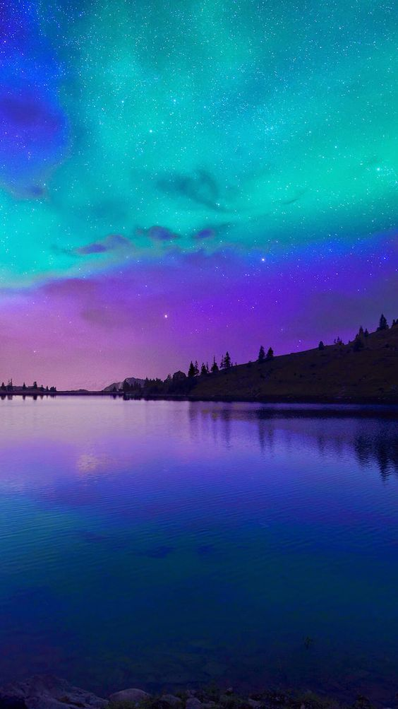 beautiful purpleblue night scenery calm your mood with