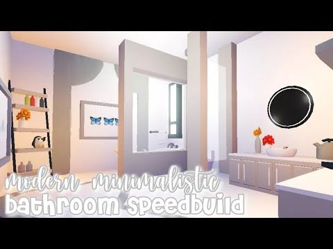 Modern Minimalistic Futuristic House Bathroom Speed Build Roblox Adopt Me Youtube Futuristic Home House Bathroom House