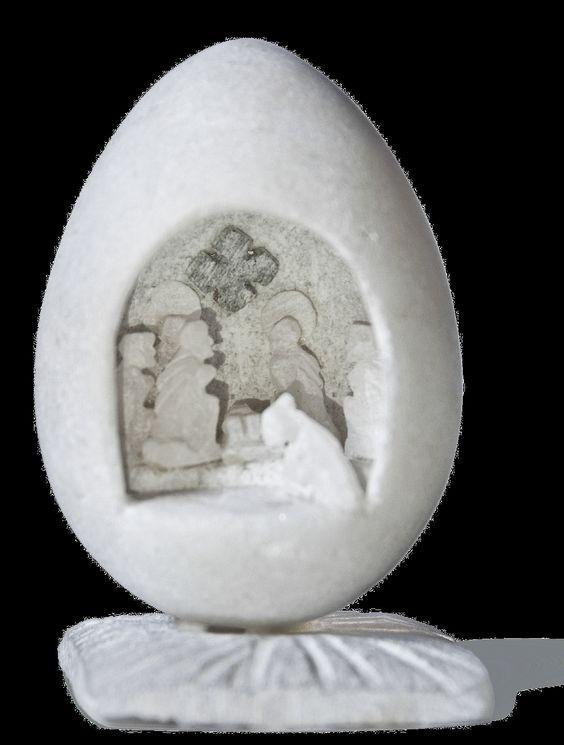 """Exposición en un """"El món en un betlem"""" En un huevo"""