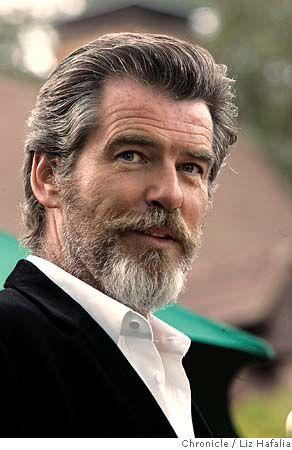 Pierce Brosnan.       thedailybeard:    Pierce with a beard.    um hi!