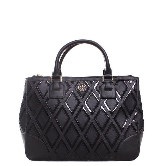 a849237230d Tory Burch Robinson Patchwork 31139784. Brand New with Tags. Double zip  tote Tory Burch