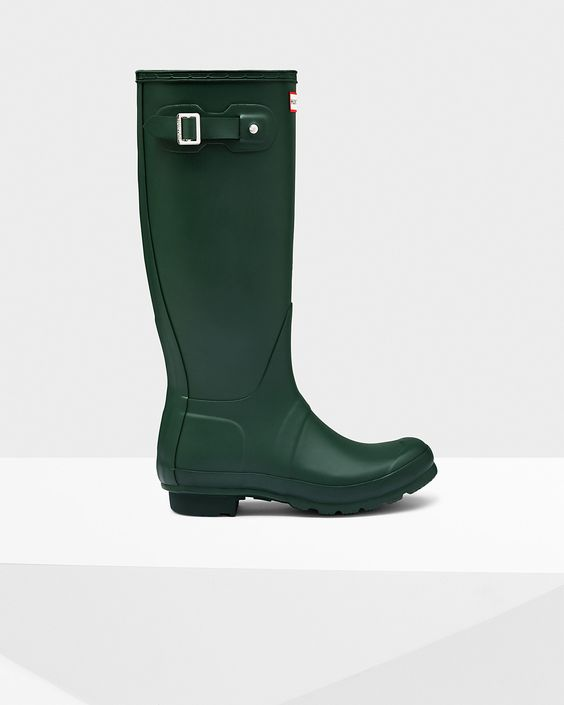 Womens Green Tall Rain Boots | Official US Hunter Boots Store ...
