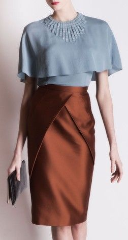 Andrew GN - everything about this is gorgeous - the color combo, the design of the skirt, the texture.