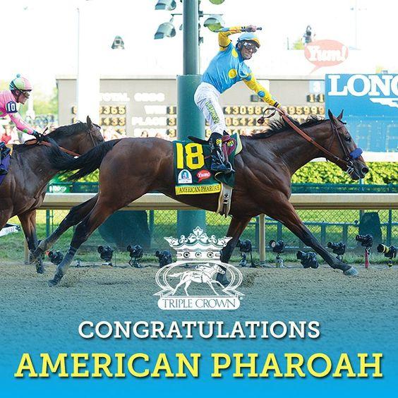 American Pharoah wins the #TripleCrown!!!!