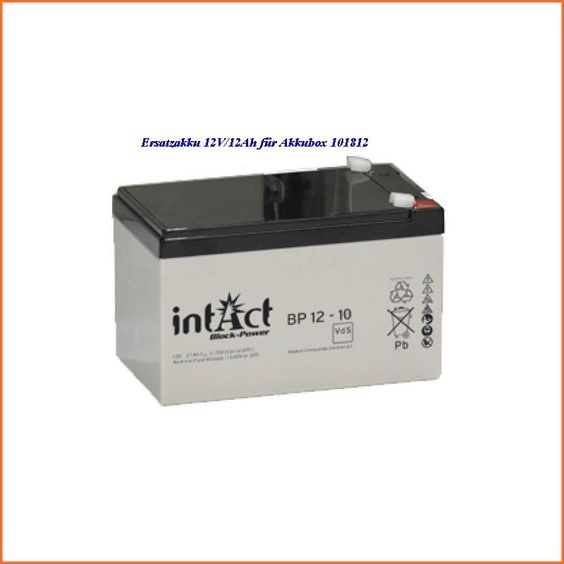 Ersatzakku 12V/12Ah 901032 für Akkubox 101812