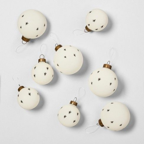 Ornament Set Of 8 Stars Black White Hearth Hand With Magnolia Target Hearth Hand With Magnolia Ornament Set Farmhouse Christmas Decor