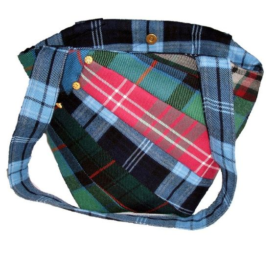 Tartan Handbag Patchwork Rainbow £18.50