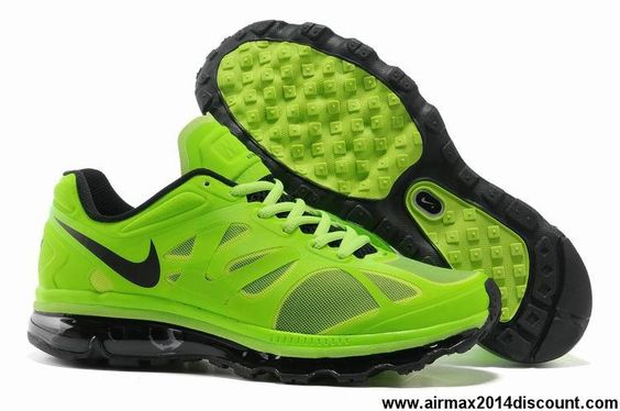 Buy Latest Listing Electric Green Black White Mens Nike Air Max 2012 487982-301 Fashion Shoes Shop