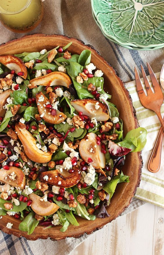 Pear Salad with Gorgonzola and Candied Walnuts | Recipe | Pear Salad ...