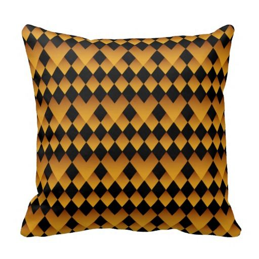 Pillow- Citrine and Black Pattern Design