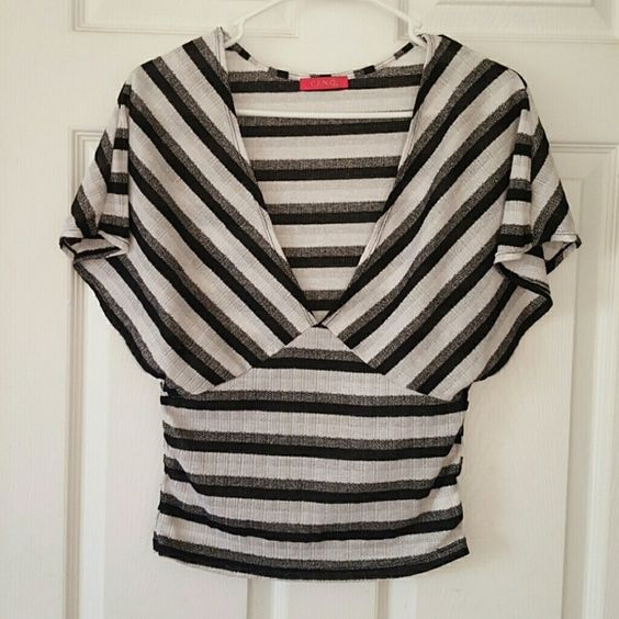 Striped top Almost see through top, size M but fits like S. Tops Tees - Short Sleeve