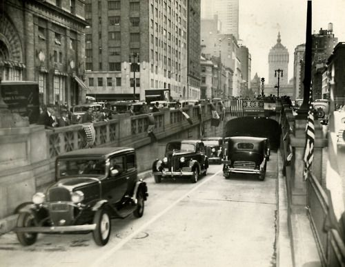 nyc first cars to use the park avenue tunnel 1937 places nyc 4 pinterest posts cars. Black Bedroom Furniture Sets. Home Design Ideas