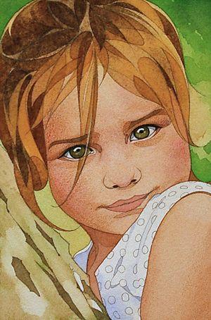 Dessins Et Aquarelles Pas A Pas Portrait D Enfant N 8 En 2020