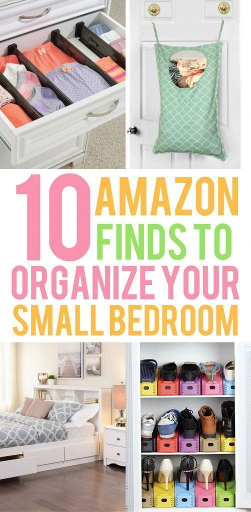 10 Amazon Finds That Will Organize Your Small Bedroom Small