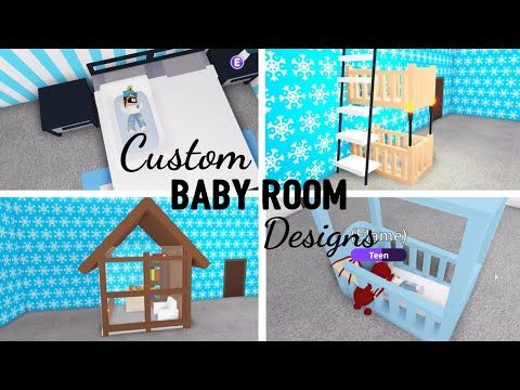 8 Custom BABY ROOM Design Ideas & Building Hacks (Roblox Adopt Me) | Its SugarCoffee - YouTube | Baby Room Design, Baby Room Neutral, Cute Room Ideas
