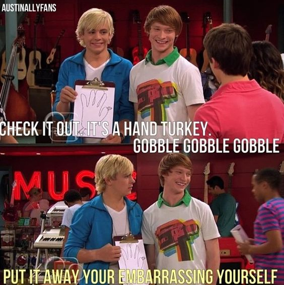 Austin and Ally. Just watched the bottom one. Its kinda upsetting I guess...