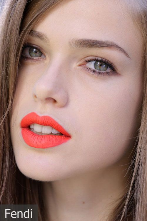 Orange red lips