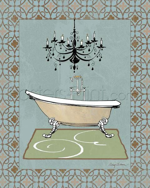 Chandelier Bath III Giclee Print Poster by Avery Tillmon Online On Sale at Wall Art Store – Posters-Print.com