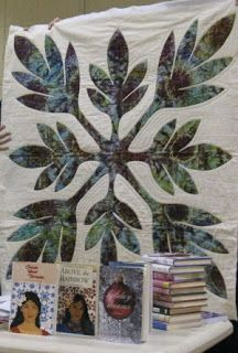 Ti leaf design for a baby quilt featured in Chase Your Dream.