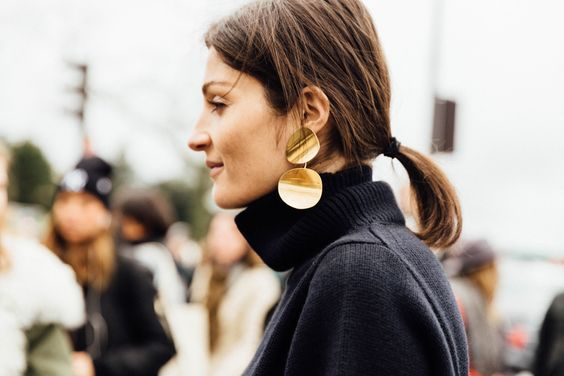Jewelry List - Bold Gold Earrings
