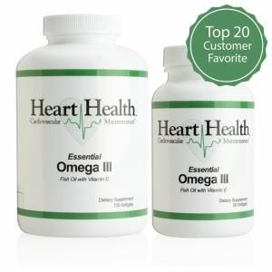 Heart health essential omega iii fish oil with vitamin e for Best fish oil on the market