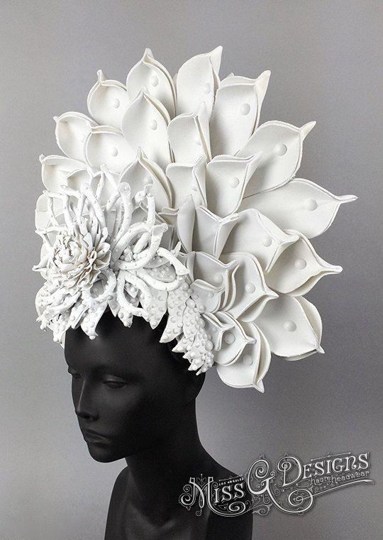 White Lotus Headdress by MissGDesignsShop on Etsy                                                                                                                                                     More